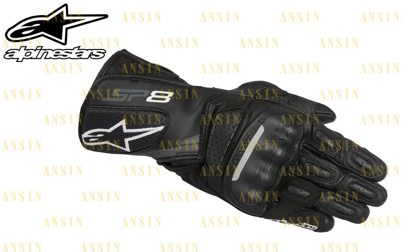 [中壢安信]義大利 Alpinestars SP-8 SP8 黑 防摔手套 A星 真皮 長版 手套 可觸控 打洞 透氣