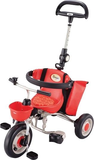 愛吾兒日本IDES新款寶寶第三代摺疊背包車-紅色