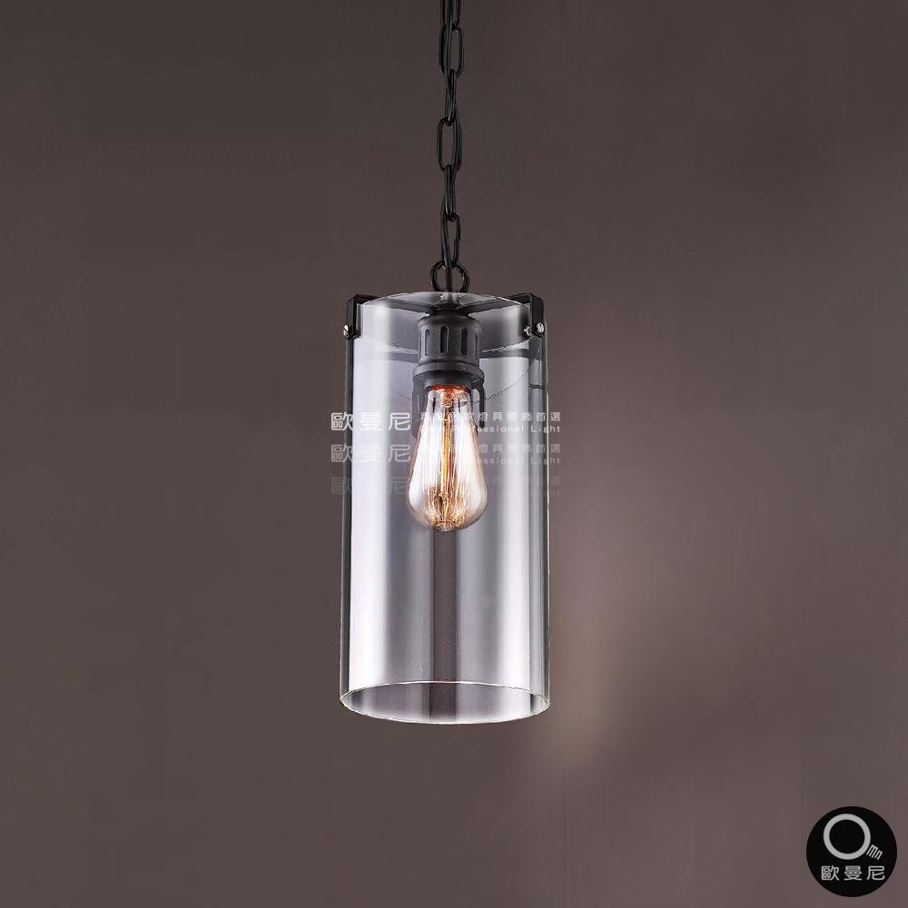 吊燈現代時尚孤獨玻璃透光吊燈單燈燈具燈飾專業首選歐曼尼