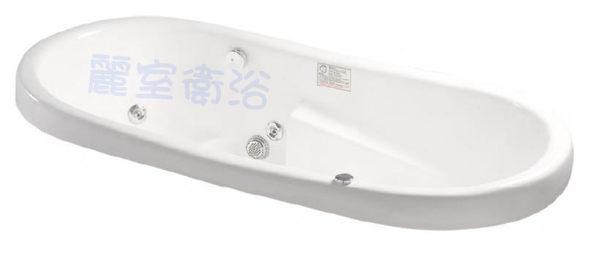 麗室衛浴BATHTUB WORLD LS-5892F橢圓空缸178*92*60CM