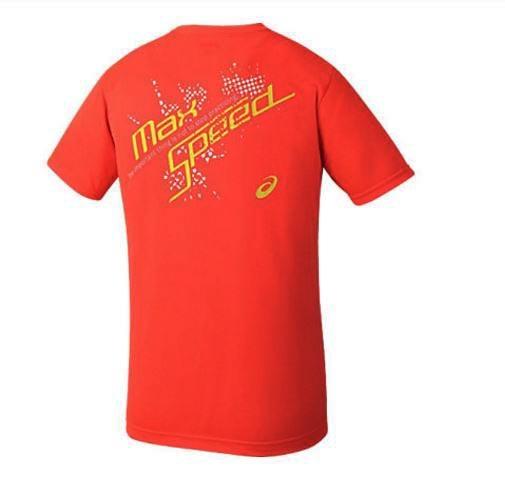 [陽光樂活=]ASICS 亞瑟士 綜合運動系列 印花T 恤 XA110N-29C 螢光橘