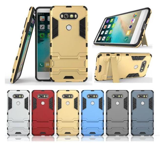 鋼鐵俠 LG V20 5.7吋 手機殼 防摔鎧甲 矽膠套 懶人支架 背殼 LG V20 5.7吋 保護殼 全包邊 軟殼