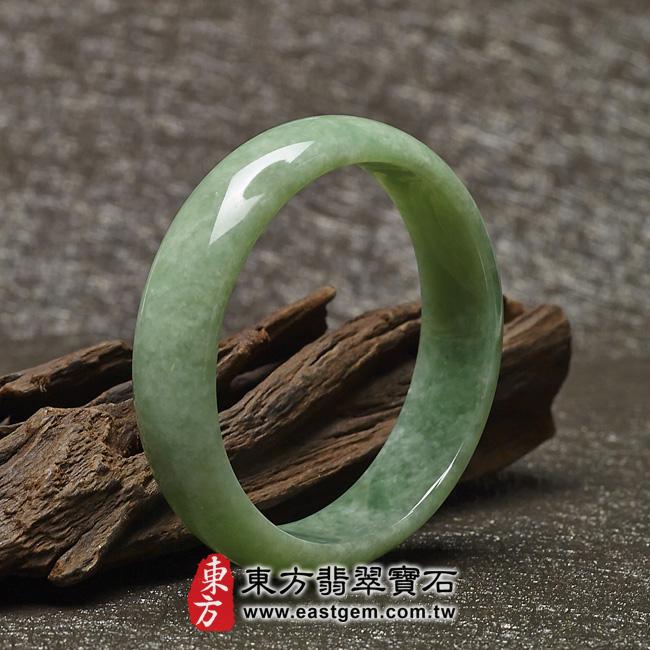 豆種手鐲豆種玉鐲豆種翡翠手鐲淺綠色玉鐲手鐲些微透光圓鐲18.5 BE005