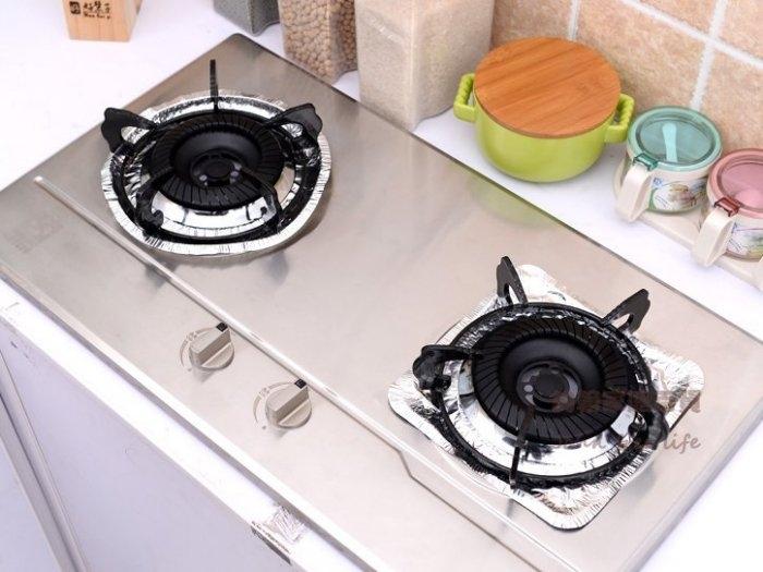 約翰家庭百貨》【AG550】瓦斯爐鋁箔防油盤 耐高溫錫紙清潔墊集油盤 方形圓形 2種規格可選