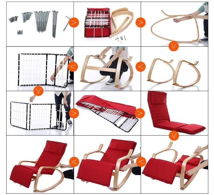 健康搖椅躺椅逍遙椅休閒椅搖搖椅陽臺實木質單人布藝室內創意靠椅tw幸福家居