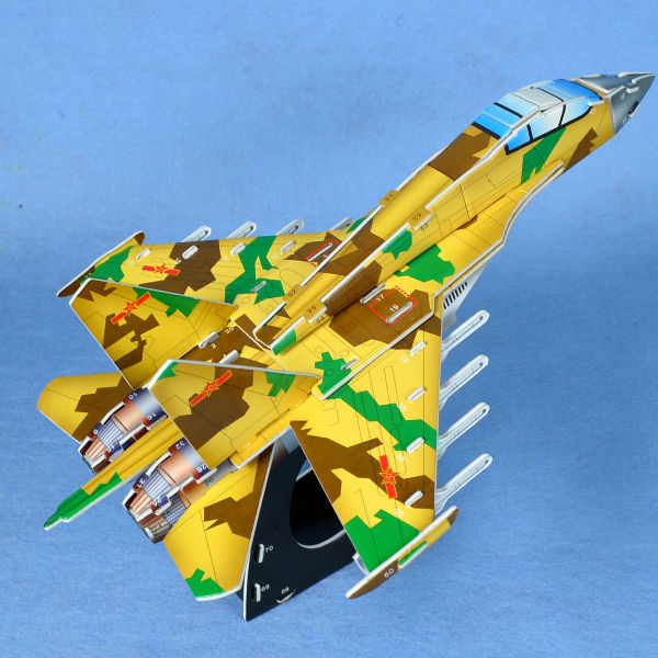 外包裝包膜破損NG福利品 親子DIY紙模型立體勞作3D立體拼圖專賣店 噴射戰鬥機J11 智立堡