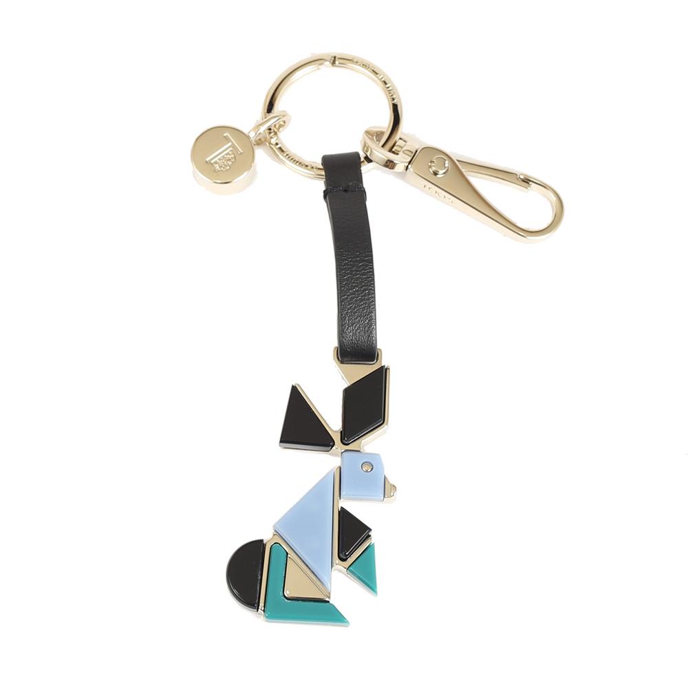 TODS 拼色造型兔鑰匙圈(藍色)