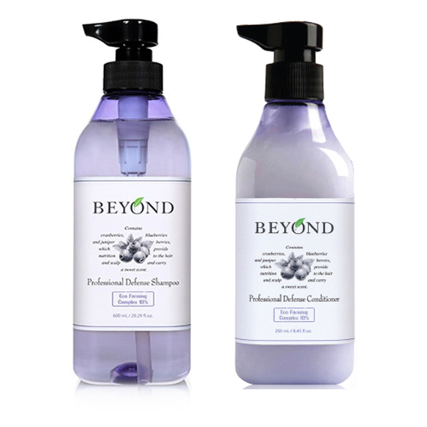 韓國BEYOND藍莓果香修護洗髮精護髮乳250ml兩款可選小三美日