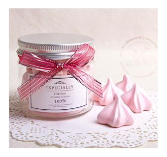 幸福朵朵【法式馬林糖Meringue-櫻花禮讚(18瓶)】 婚禮小物擺桌禮情人節禮物生日分享