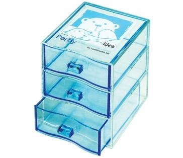 佳斯捷中紀香三層小盒桌上收納盒置物盒儲物盒收納盒收納箱辦公文具小抽屜1221百貨通