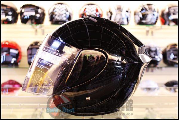 中壢安信M2R 318黑色半罩安全帽