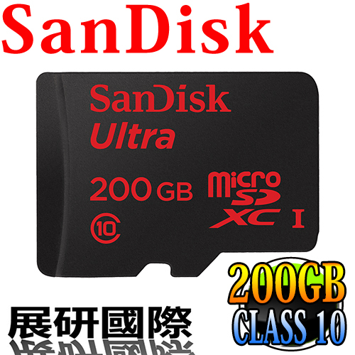 Sandisk SDSQUAN-200G 手機 平板 記憶卡 Micro SD CLASS 10 高速 TF 200G
