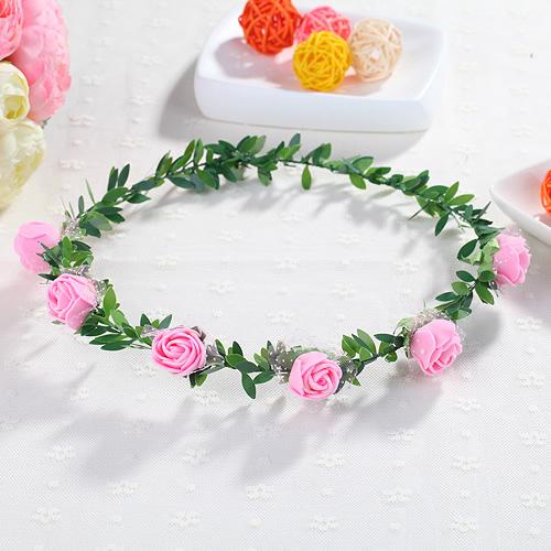 兒童花環滿天星發箍新娘公主旅遊景點拍照森女花頭飾 6朵花─預購CH1692