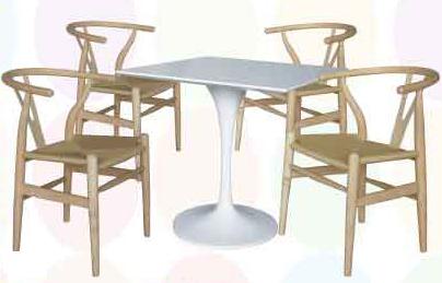 【南洋風休閒傢俱】Y-chair 洽談桌椅 80公分FRP桌  編繩餐椅 總統休閒椅 (551-11)