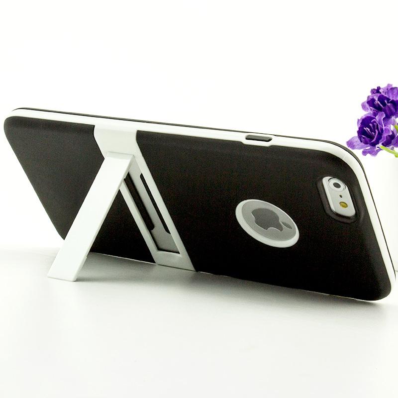 SZ 6s手機殼二件套雙色矽膠支架iphone 6s手機套iphone 6手機殼