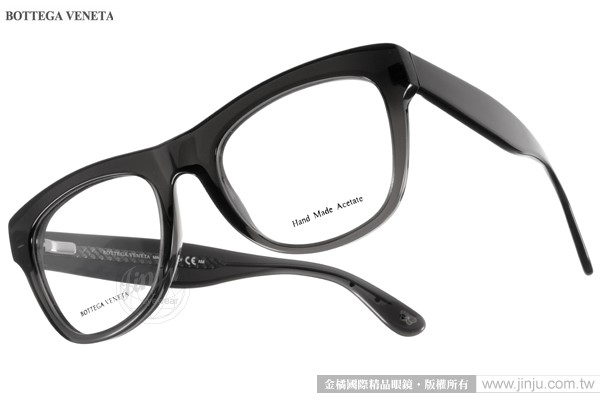BOTTEGA VENETA光學眼鏡BV271 4PY透黑高貴復古典雅女款金橘眼鏡