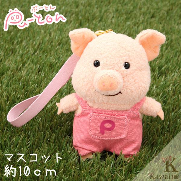 Hamee 日本 Pig童話故事系列 三隻小豬 絨毛玩偶 布偶娃娃 吊飾 (豬大哥/粉色) 557-020191