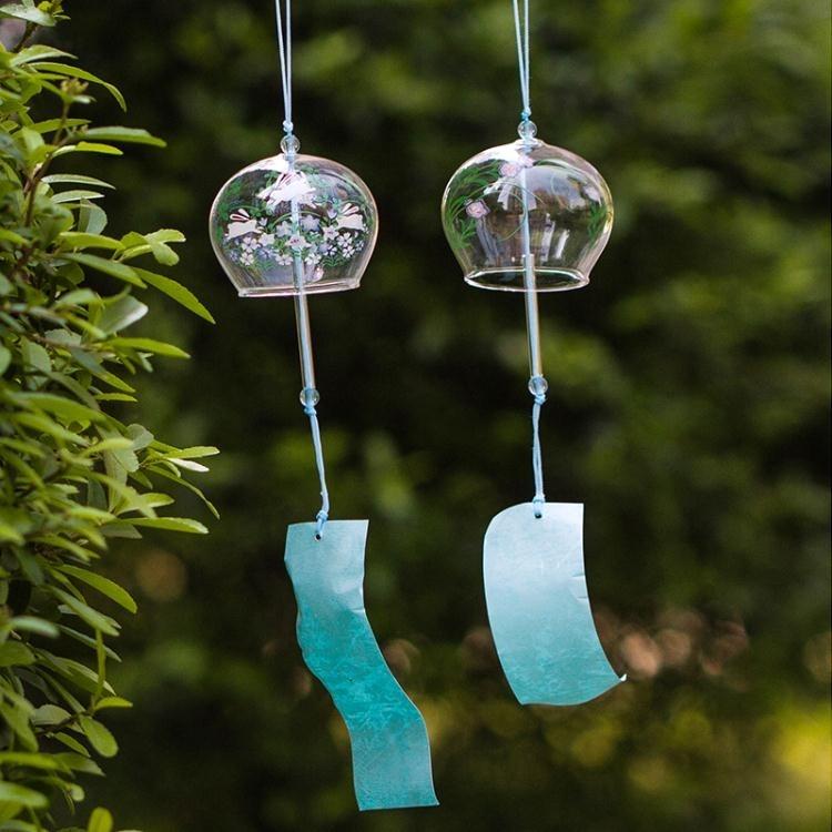 風鈴禮物日本日式玻璃櫻花風鈴創意家居臥室掛件日本日式玻璃櫻花風鈴創意家居臥室掛件