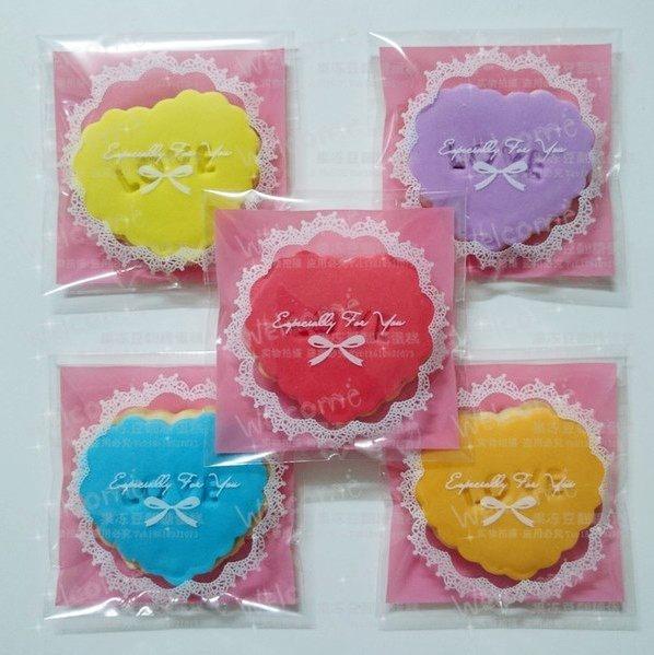 包裝袋  20枚一包售 圓蕾絲7*7cm  5色任選精美餅干小物包裝袋  想購了超級小物