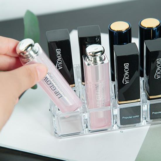 慢思行P269無印風格系列-12格口紅收納盒壓克力化妝品透明化妝盒桌面