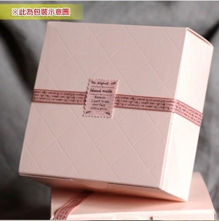 [Mini style] 包裝盒 可愛 粉色 菱格  西點盒 蛋糕盒 餅幹盒 點心盒 1枚 簡約 禮品 送禮