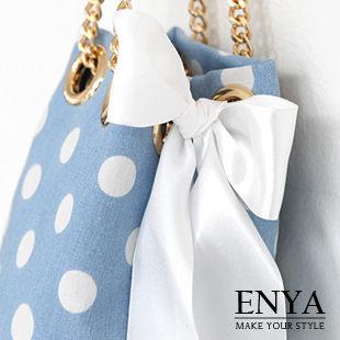 點點金屬鏈條水桶包Enya恩雅BASS5