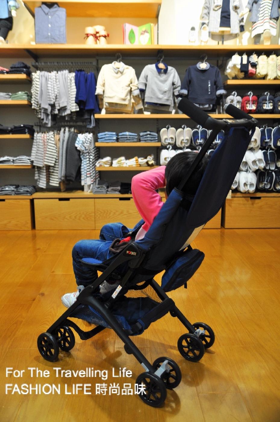 時尚品味嬰兒車出租日本口袋型推車POCKIT新生兒時尚藍推車出租