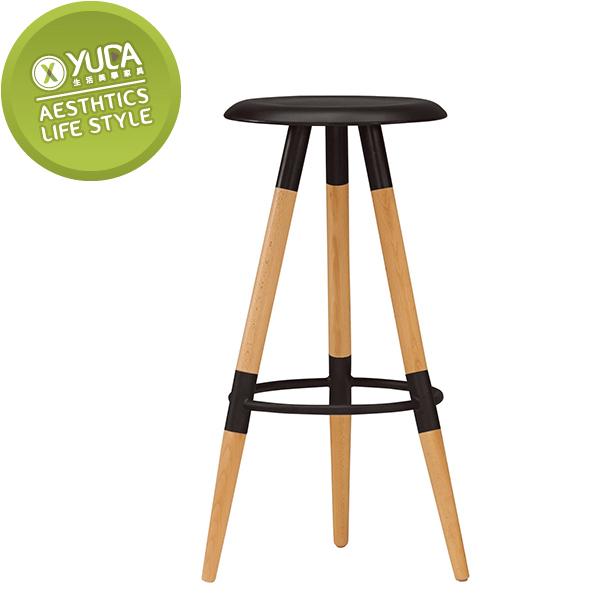 【YUDA】席貝兒 實木櫸木腳  吧檯椅  休閒椅  J0M 542-7