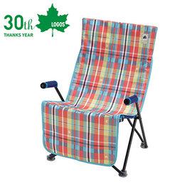 丹大戶外【LOGOS】日本 愛麗絲格紋防水椅套 座椅墊/椅套/可水洗/防塵防髒汙 73173048 紅