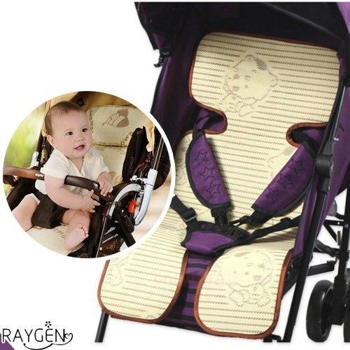竹炭兒童涼蓆 寶寶 嬰兒 餐椅坐墊 亞麻草 涼蓆 推車墊子 草蓆