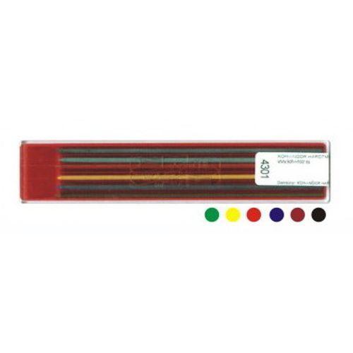 《☆享亮商城☆》彩色工程筆蕊 2.0mm 6色入 K4301 捷克