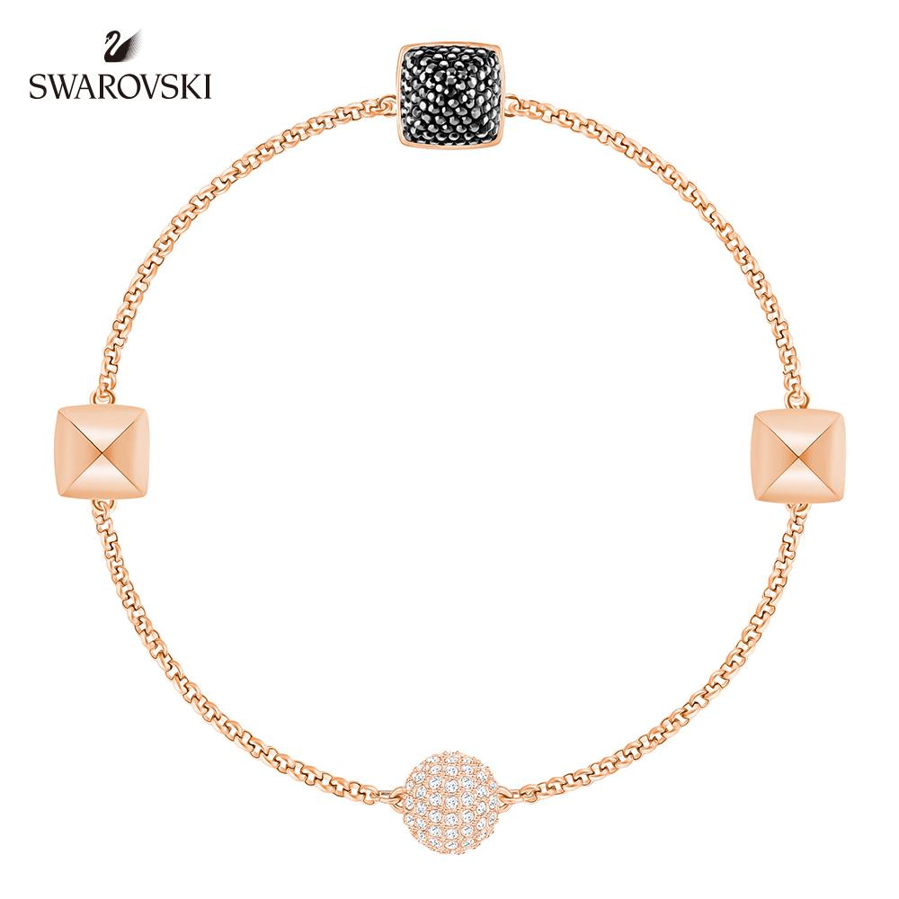 施華洛世奇 高貴氣質鍍玫瑰金色 Remix Collection Spike 手鍊