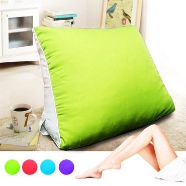 【KOTAS】大型 滾邊 抬腿記憶枕/靠枕(四色款) 抬腿記憶枕-綠