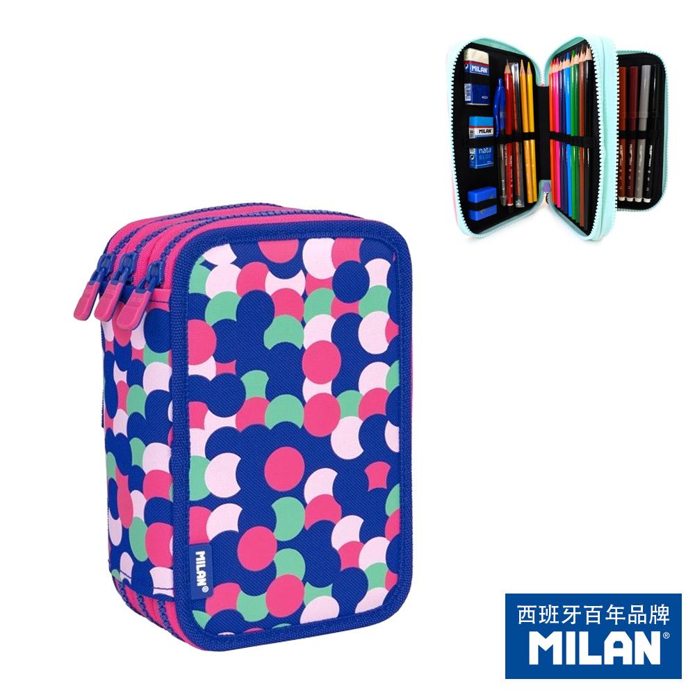 【MILAN】隨行畫筆袋著走_美人魚點點(3層式)