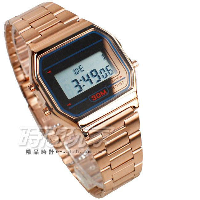 SKMEI時刻美時尚電子錶女錶中性錶防水手錶運動錶夜光日期SK1123玫玫瑰金學生錶