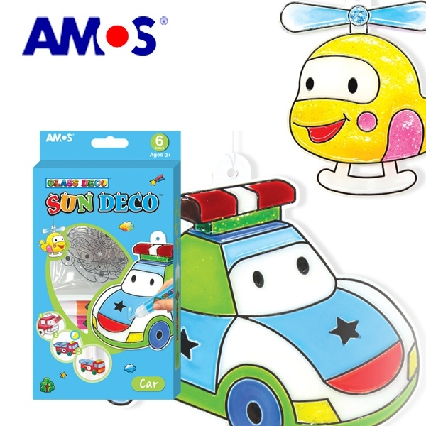 韓國AMOS 6色DIY壓克力模型板玻璃彩繪-汽車款