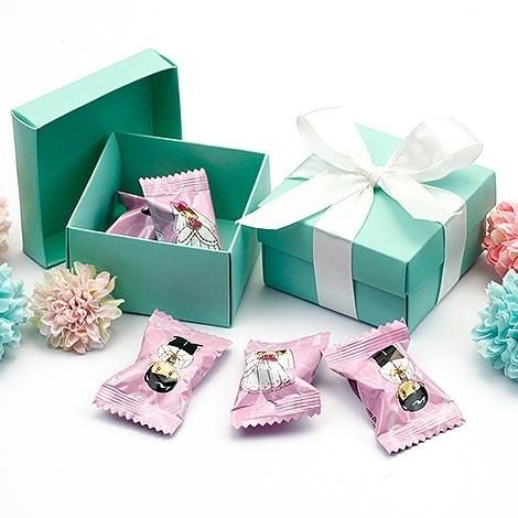 幸福婚禮小物DIY經典蒂芬妮喜糖盒迎賓禮桌上禮二次進場送客禮喜糖盒