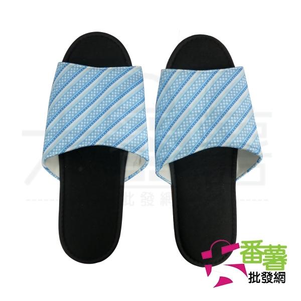 H1斜線布拖鞋/室內拖 [大番薯批發網 ]