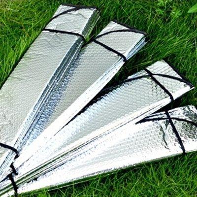 車載前檔太陽擋雙面厚鋁箔氣泡銀130*60CM汽車遮陽擋AE10154