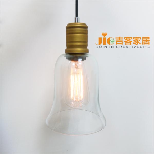 [吉客家居] 吊燈 - 風鈴吊燈 玻璃造型時尚現代簡約北歐復古工業美式鄉村餐廳吧檯玄關民宿咖啡館