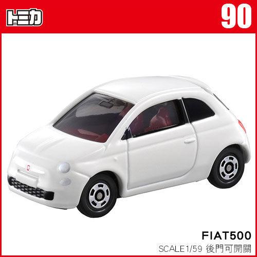 《TOMICA火柴盒小汽車》TM090  FIAT500 ╭★ JOYBUS玩具百貨