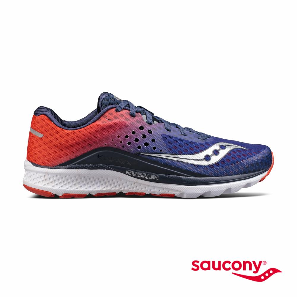 SAUCONY KINVARA 8專業訓練鞋-橘紅夕陽