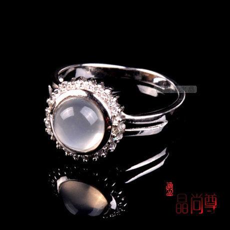 水晶月光石戒指