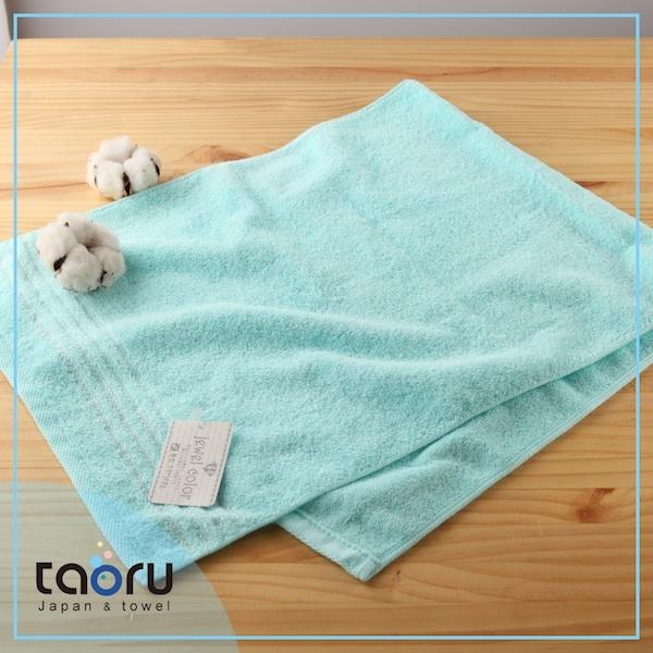 日本毛巾居家實用款珠寶盒薄荷藍34*82 cm長毛巾taoru日本毛巾
