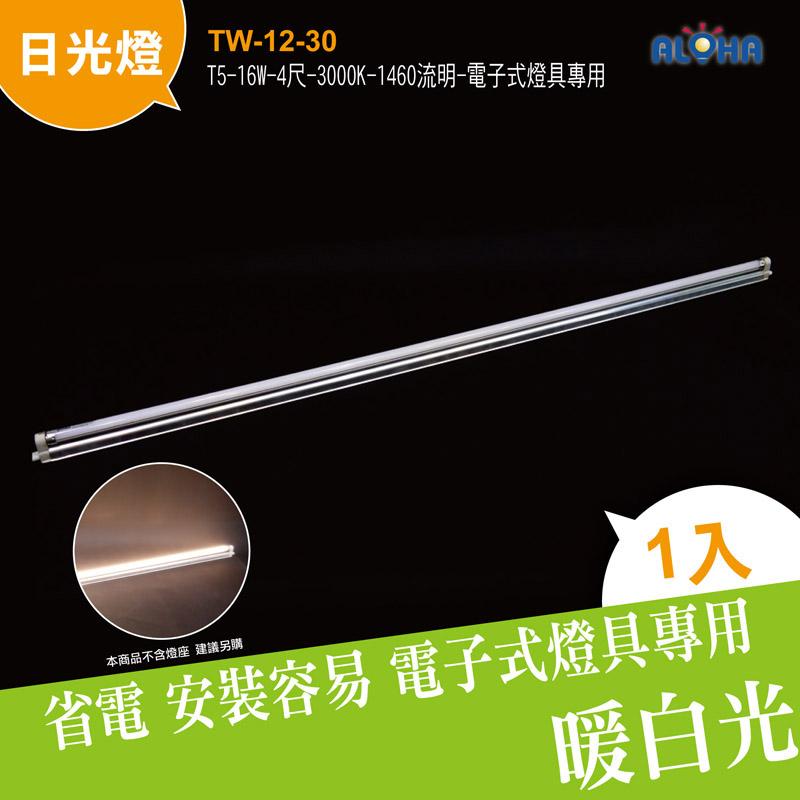 LED日光燈 T5-16W-4尺(暖白光) 3000K-1460流明-電子式燈具專用 (TW-12-30)