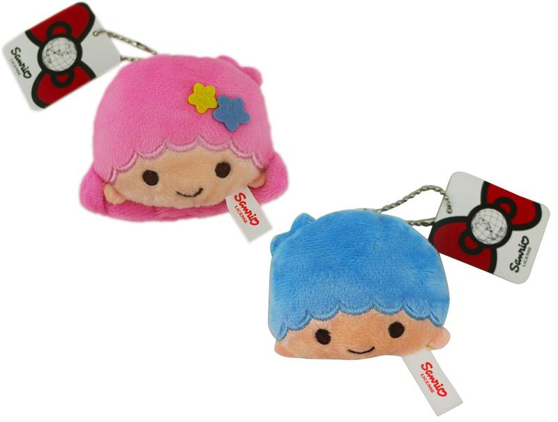 卡漫城雙子星大頭吊飾兩入一組版絨毛玩偶娃娃附珠鍊Kikilala Twin Stars台版