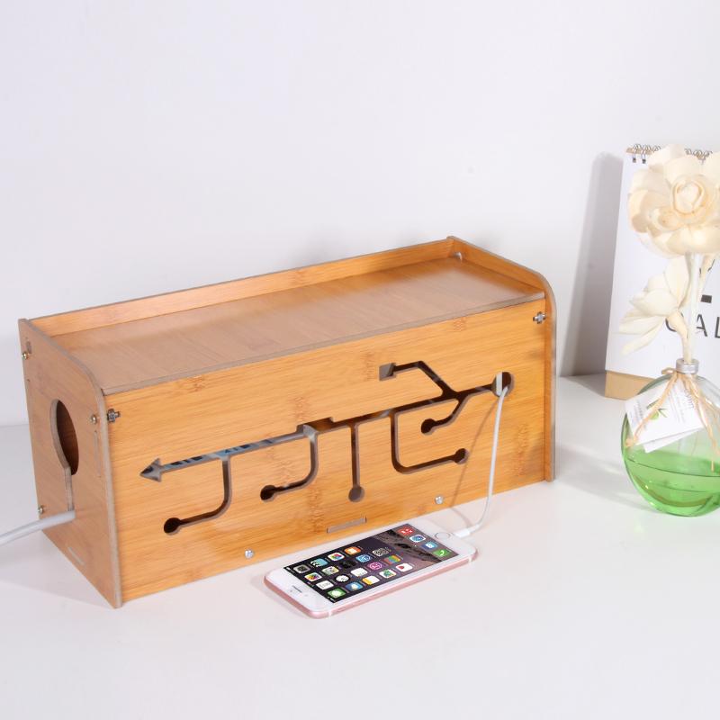 翻蓋理線盒電線收納盒插排電源線整理收納盒