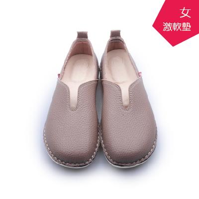 A.MOUR經典手工鞋仿牛紋饅頭-原味芋氣墊鞋平底鞋抗氧化防水鞋超軟饅頭鞋DH-2501