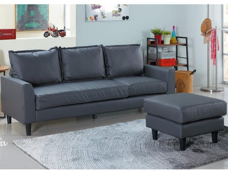 沙發L型皮沙發AM-565-2歐克斯小型沙發皮質大眾家居舘