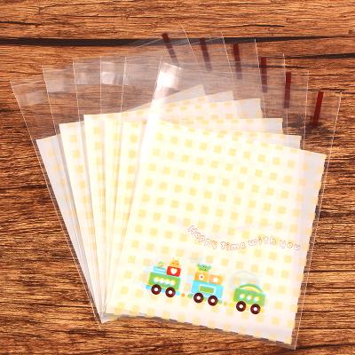 95入 小火車 糖果袋 opp袋 自黏袋 透明袋 食品級 塑膠包裝袋 飾品 烘焙 餅乾袋 婚禮小物